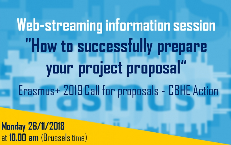 "Web-streaming info session ""How to successfully prepare your project proposal"""