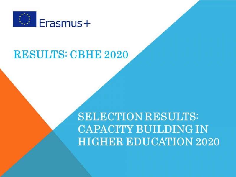 The selection results of the Erasmus+ CBHE 2020