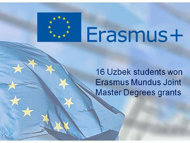 16 Uzbek students won Erasmus Mundus Joint Master Degrees grants