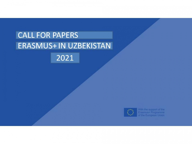 """Call for papers: """"Erasmus+ in Uzbekistan"""" annual publication 2021"""