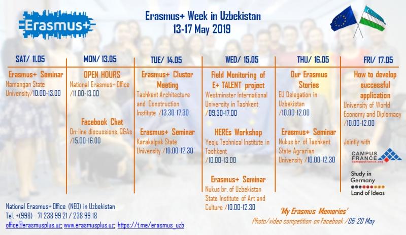 Неделя Erasmus+ в Узбекистане 2019
