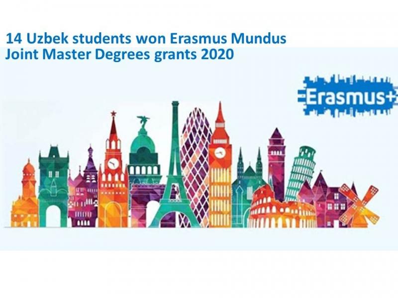 14 nafar O'zbekistonlik talabalar Erasmus Mundus qo'shma magistrlik dasturlari stipendiyasini qo'lga kiritdilar